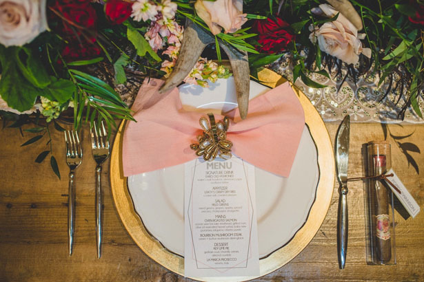 Wedding menu - Edward Lai Photography