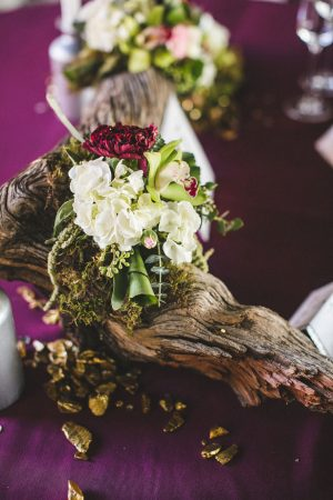 Wedding table centerpiece - Alicia Lucia Photography