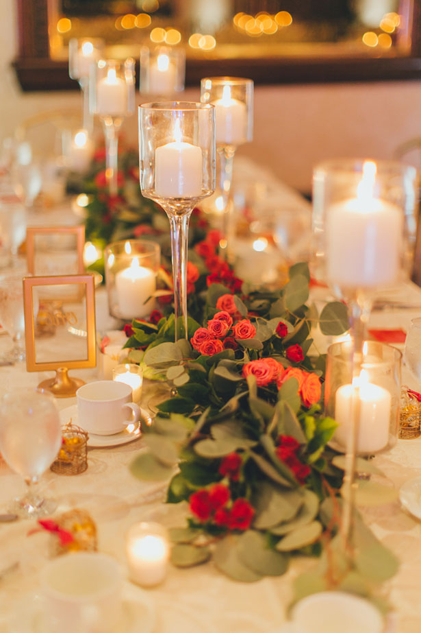 Wedding table garland centeerpiece - OLLI STUDIO