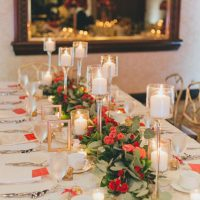 Wedding table garland centerpiece - OLLI STUDIO