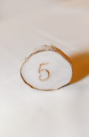 Wedding table number - Melissa Avey Photography