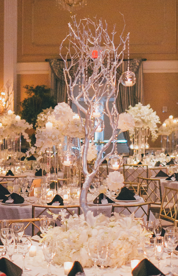 White Wedding Centerpiece - OLLI STUDIO
