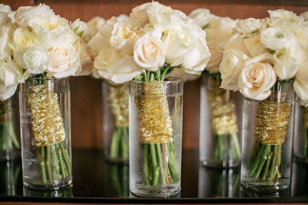 White wedding bouquets - Clane Gessel Photography