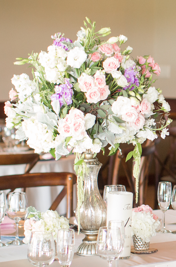 Tall PastelWedding Centerpiece - Three16 Photography