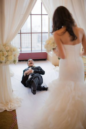 fun bride and groom picture idea - Clane Gessel Photography