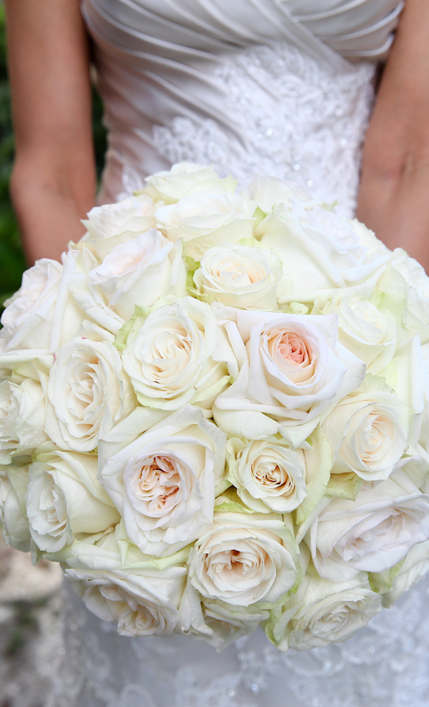White rose Wedding bouquet - HydeParkPhoto