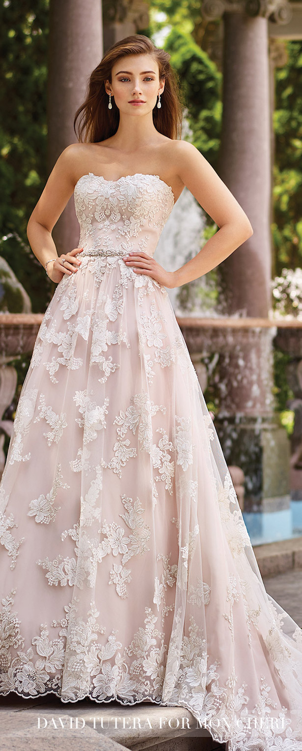 Wedding Trends 2017 Blushing Bridal Gowns With Mon Cheri
