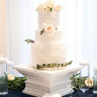 All- white wedding cake - Elizabeth Nord Photography