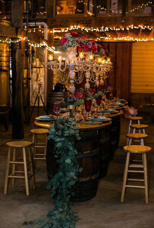 Barrel wedding tables - Aida Malik Photography
