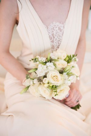 White and green wedding bouquet - Elizabeth Nord Photography