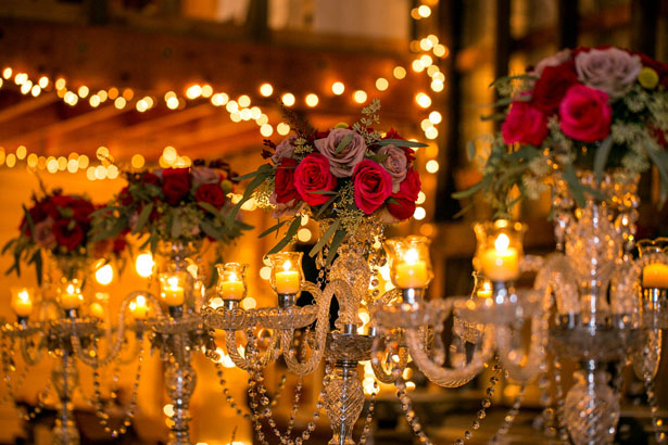 Candelabra wedding centerpiece - Aida Malik Photography