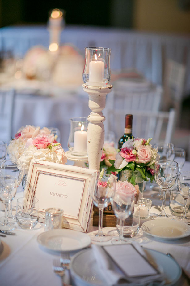 Candle wedding centerpiece - David Bastianoni