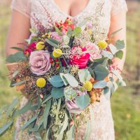 Colorful bridal bouquet - Aida Malik Photography