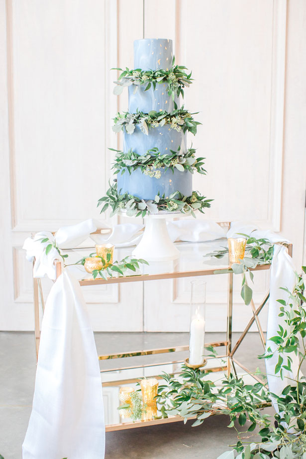Greenery Dusty Blue And Gold Spring Wedding Inspiration Belle The