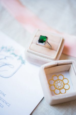 Emerald bridal ring - Elizabeth Nord Photography