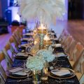 Feather wedding centerpiece - Rita Wortham photography
