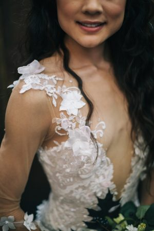 Floral lace wedding dress - Erika Layne Photography
