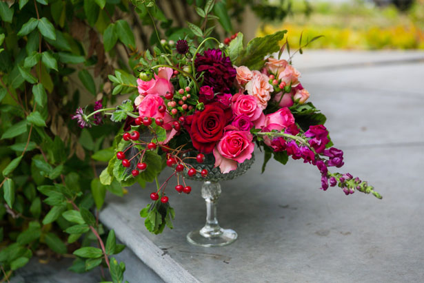 Floral wedding arrangement - Cimbalik Photography