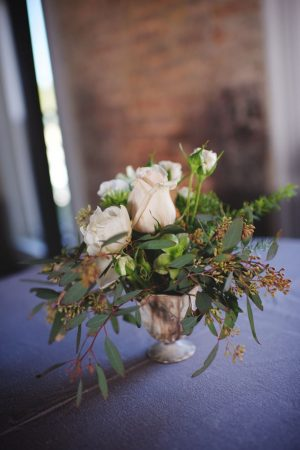 Floral wedding centerpice - Justin Wright Photography