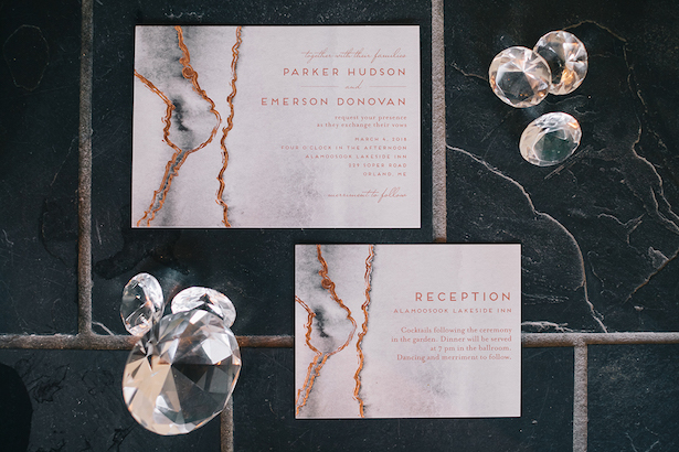 Foil wedding invitation - Erika Layne Photography