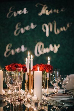 Glam wedding decor - Wedding table number -Erika Layne Photography