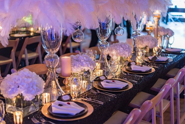 Glamorous wedding table-scape - Rita Wortham photography