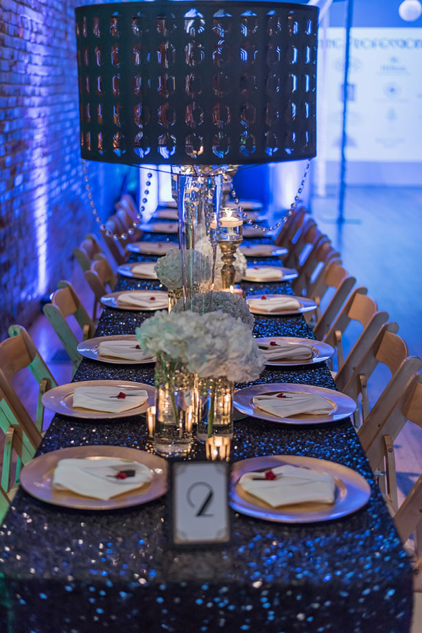 Glamorous wedding tablescape - Rita Wortham photography