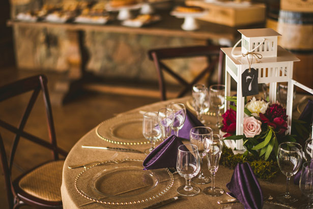 Latern wedding centerpiece - Sam Hurd Photography