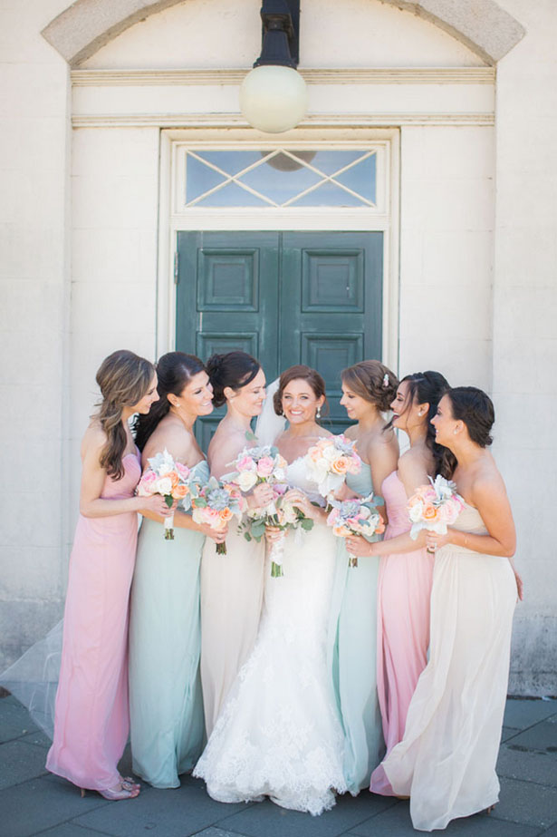 Pastel bridesmaid dresses - Clane Gessel Photography