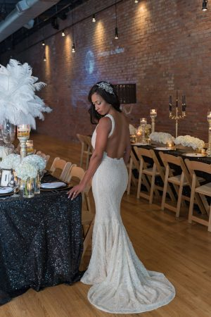 Low back cut bridal dress - Rita Wortham photography