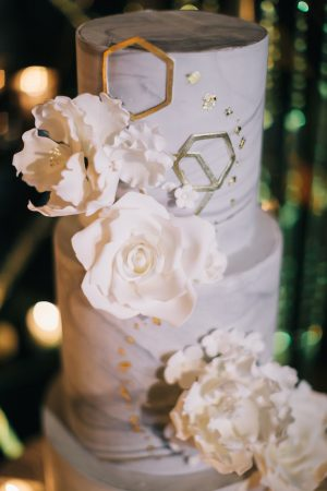 Marble wedding cake -Erika Layne Photography