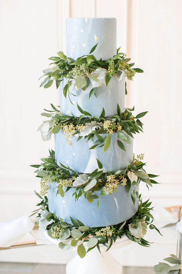 Marble wedding cake - Anna Holcombe Photography