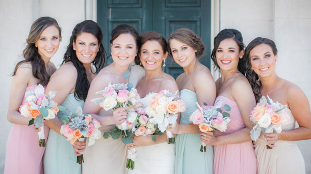 Mix match bridesmaid dresses - Clane Gessel Photography