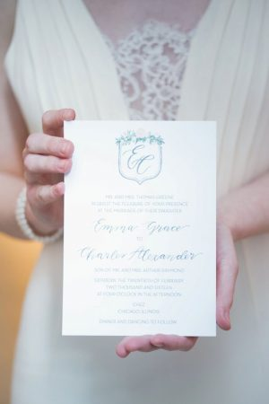 Modern wedding invitation - Elizabeth Nord Photography