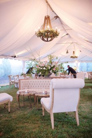 Tent wedding reception - Justin Wright Photography