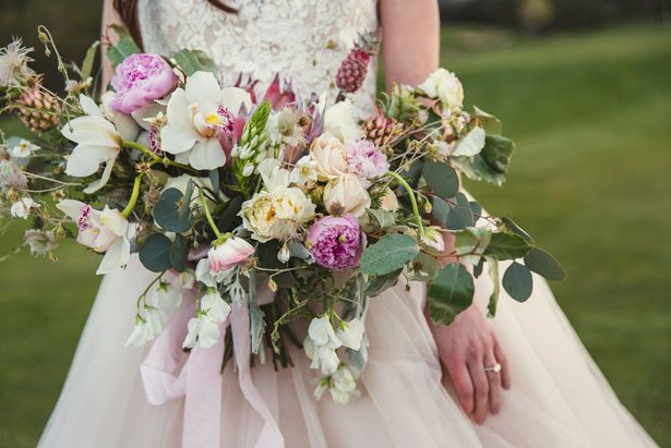 Dusty Blue and Blush Bridal Session