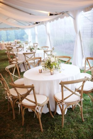 Outdoor wedding reception - Justin Wright Photography