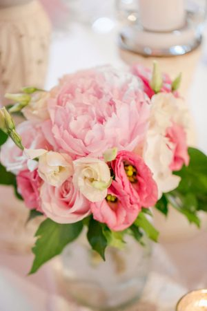 Pink floral arrangement - David Bastianoni