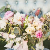Pink pineapples wedding bouquet - Emily Joanne Wedding Films & Photography