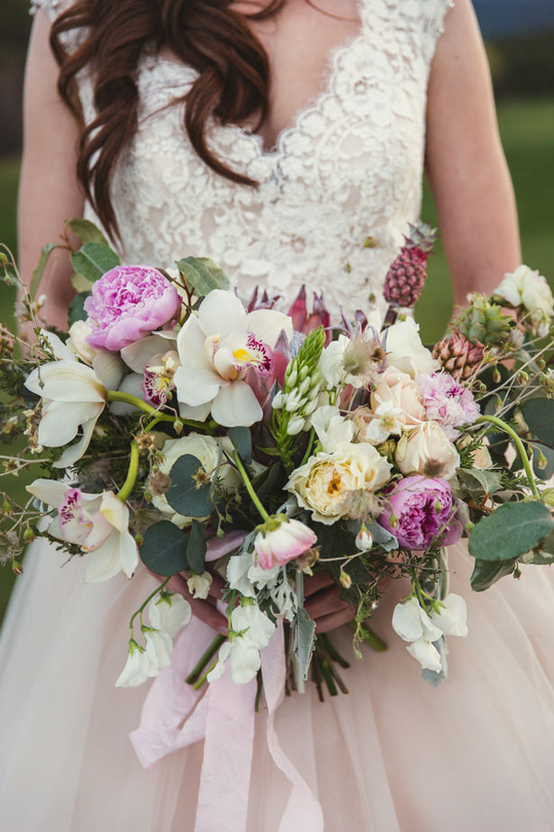 Pink wedding bouquet - Emily Joanne Wedding Films & Photography