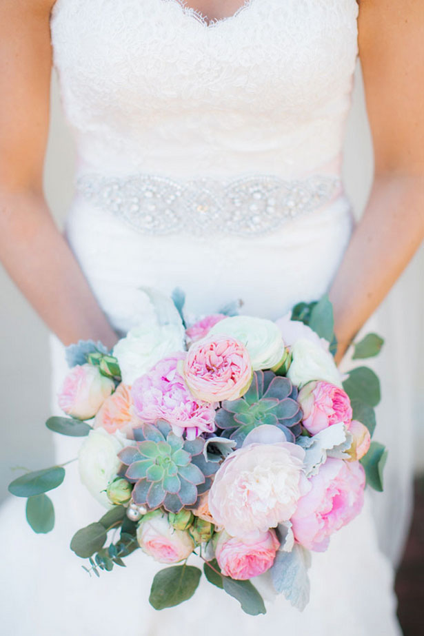 Pink wedding bouquet - Clane Gessel Photography