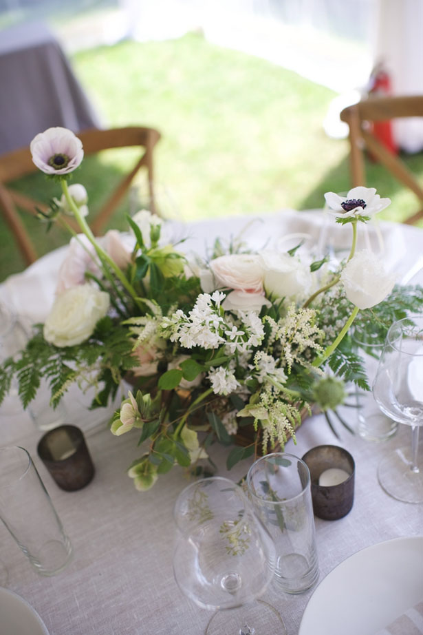 Pretty wedding centerpiece - Justin Wright Photography