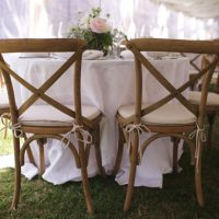 Rustic wedding chairs - Justin Wright Photography