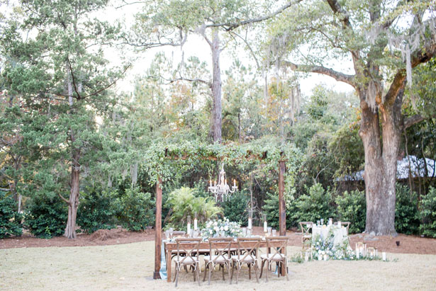 Rustic wedding table-scape - Anna Holcombe Photography