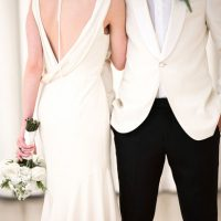 Stylish bride and groom - Elizabeth Nord Photography