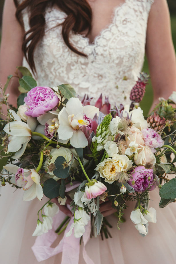 Summer Pink wedding bouquet - Emily Joanne Wedding Films & Photography