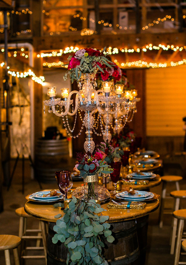Tall wedding centepiece - Aida Malik Photography