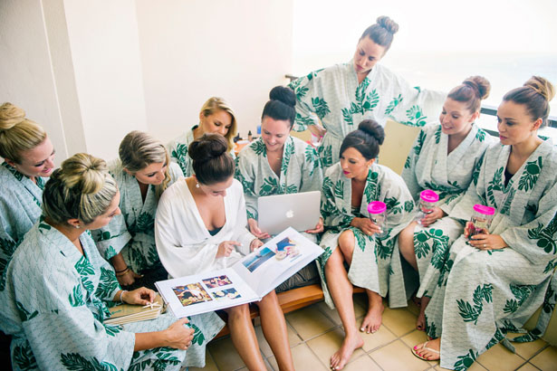 Tropical bridesmaid robes - Jenna Leigh Wedding Photography