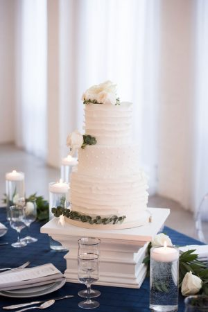 Vintage white wedding cake stand - Elizabeth Nord Photography