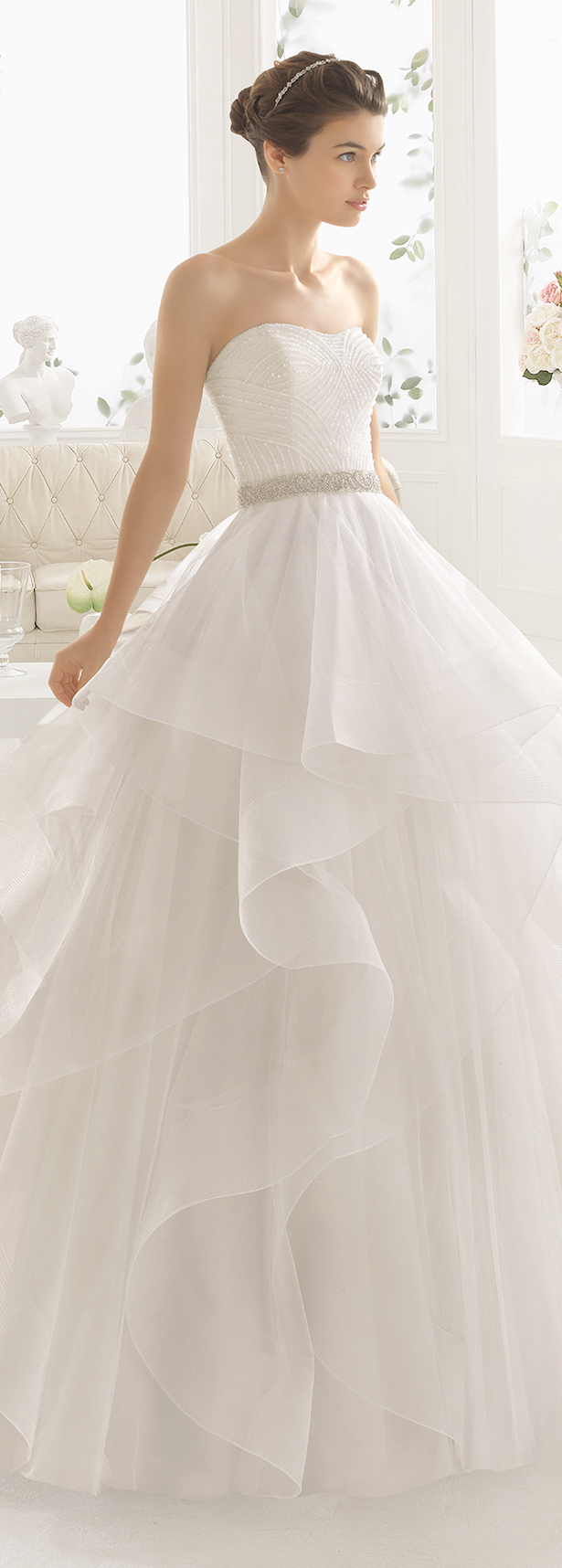 Wedding dress trends 2017 ruffled skirts belle the magazine for Wedding dresses with ruffles